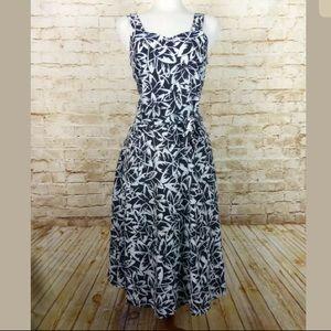 VTG Haband for Her Floral Tropical Maxi Dress
